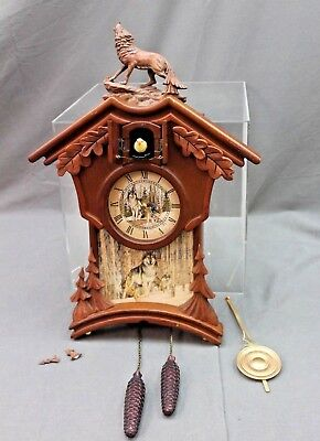 Natures Timeless Mystery Cuckoo Clock The Bradford Exchange##gamel31  Sd