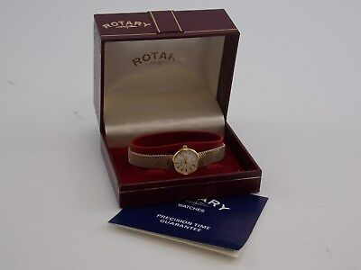 Vintage 1980s ROTARY Ladies Japan Made QUARTZ WATCH with Original Box + Papers