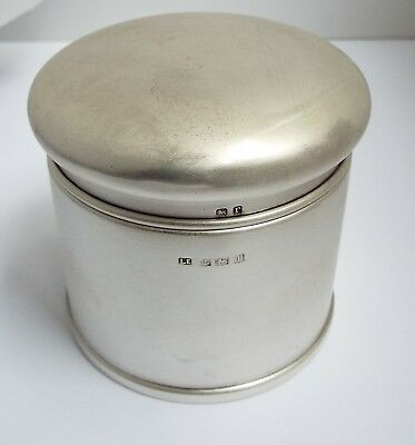 Lovely Heavy English Antique 1916 Solid Sterling Silver Tea Caddy Canister Box