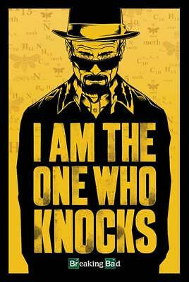 Breaking Bad - I Am The One Who Knocks Drama Humor Fernsehserie Poster