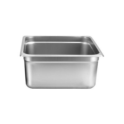 "Thunder Group STPA8236 Stainless Steel 2/3 Size Steam Table Pan 6"" Deep 24 Gauge"