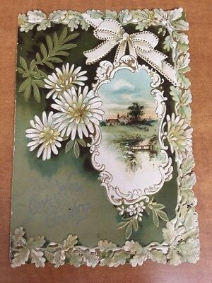 Antique Early 1900's Large unsigned Valentine Day card