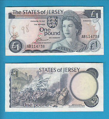 THE STATES OF JERSEY - 1 Pound - 1976-88