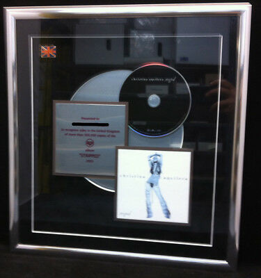 CHRISTINA AGUILERA Stripped 2002 Original UK CD Award Plaque
