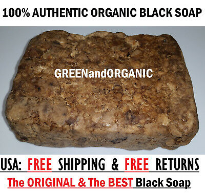 5lb 100%  Natural Raw African Black Soap, Organic, Unrefined GHANA west Africa