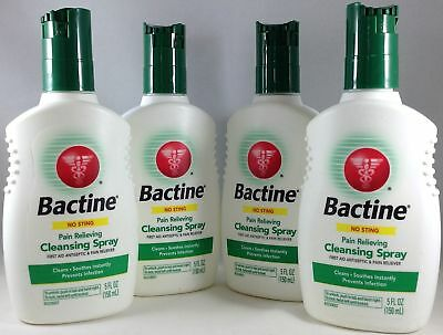 4 Pack Bactine Pain Relieving Cleansing Spray First Aid Antiseptic - 5 oz Each