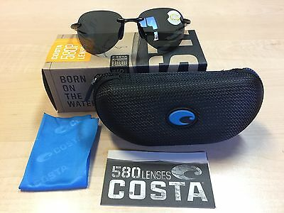 847ad8627a Authentic New Costa Del Mar Sunglasses West Bay Wsb-11 Black   580P Gray  Lenses