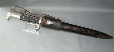 WWII German Etched Dress Bayonet CURNA With Frog & Scabbard
