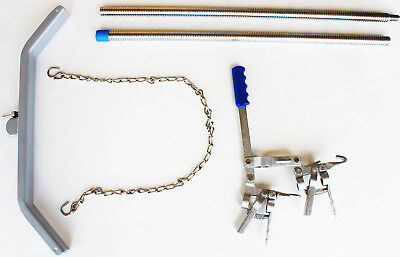 Veterinary Dual Ratchet Calf Puller Jack Cattle Birthing Extractor 98418