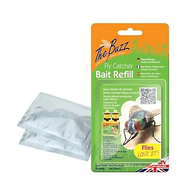The Buzz Fly Catcher Bait Refill with Super Effective Insect Attractant, Covers