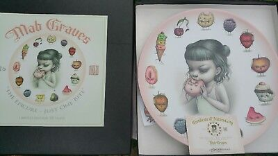 Mab Graves Collectable Epicure Plate just one bite series LIMITED EDITION RARE