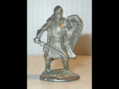 Vintage 1996 GALLO Pewter Knight w/Shield,Sword, Helmet Fantasy Mythical Figure