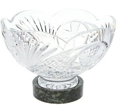 """Waterford & Connemara Marble 10"""" Bowl with Marble Base H213854"""