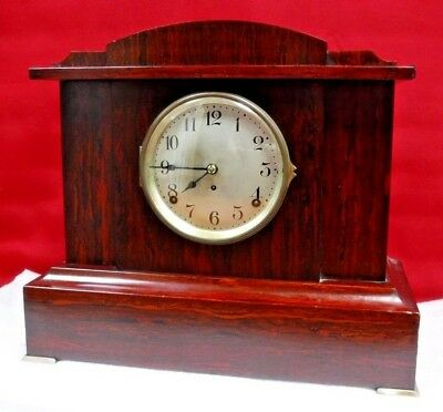 SETH THOMAS SONORA BELL CHIME CLOCK RUNNING, CHIMING, c.1916 MAHOGANY ADAMANTINE