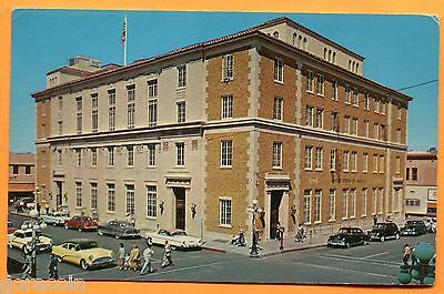 Tucson, AZ, Old Postcard View of Post Office & Federal Building, pm 1967