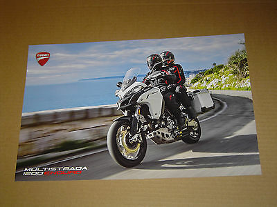 """2017 DUCATI MOTORCYCLES MULTISTRADA 1200 ENDURO 2-SIDED POSTER MINT! 11""""x17"""""""