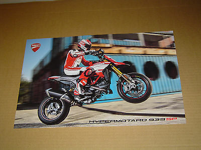 """2016 DUCATI MOTORCYCLES HYPERMOTARO 939 SP 2-SIDED POSTER MINT! 11""""x17"""""""