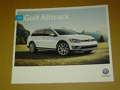 2017 Volkswagen Vw Alltrack Brochure Mint! 16 Pages