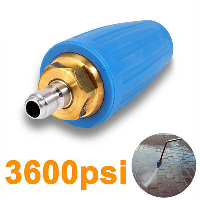 3000psi/207bar Rotating Pressure Washer 1/4 Inch Quick Connect Turbo Nozzle Blue