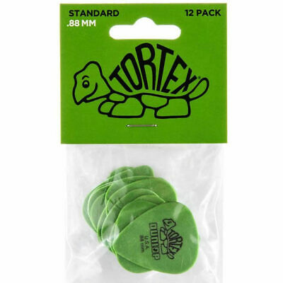 12x Jim Dunlop Tortex Standard .88MM Gauge Guitar Picks Plectrums Green