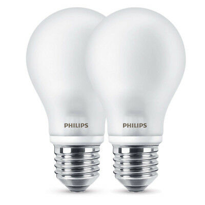 Philips LED Birnenlampe 8,5W (75W) E27 827 300° NODIM 2er Pack matt