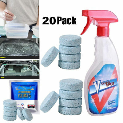 20Pcs Multifunctional Spray Super Cleaner V Clean Spot Concentrated Effervescent