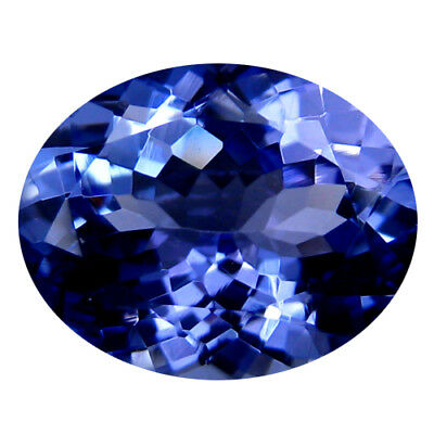 2.83Ct MIND BOGGLING ! TOP RICH FIRE AAA+ BLUISH VIOLET NATURAL TANZANITE