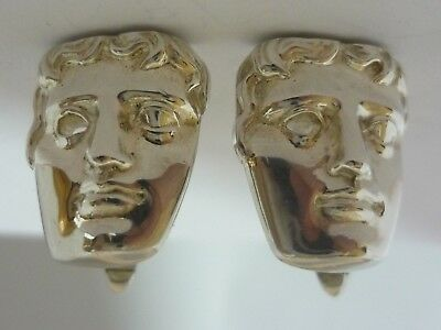 Stunning Rare Classical Greek Head Sterling Silver Cufflinks By Stephen Riorban