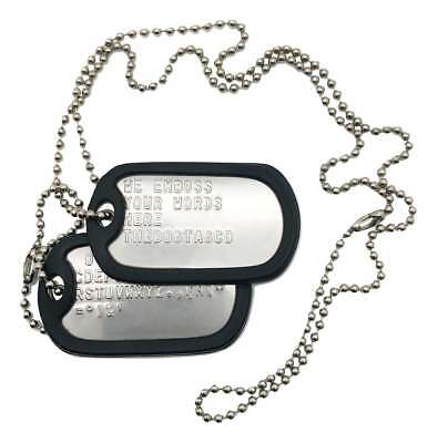 Pair Set Of Military Army Dog Tags - Free Embossed Personalised - Thedogtagco