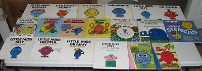 BIG Mixed Lot of 28 Mr. Men and Little Miss Picture Books by Roger Hargreaves