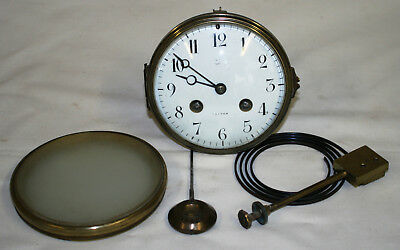 Antique Samuel Marti Complete Clock Movement + Original Pendulum Chimes & Back