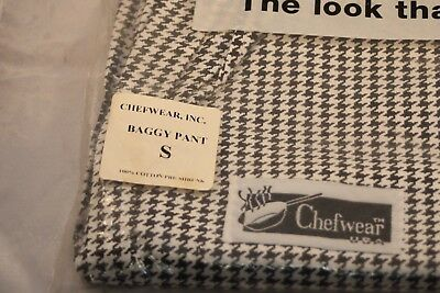 Chefwear Houndstooth Baggy Chef Pants small