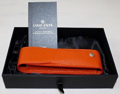 Caran D'ache Leman Saffron Leather 2-Pen Holder 6202.530