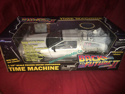 Lighted Back To The Future II 1:15 Electronic Hover Wheels Delorean Time Machine