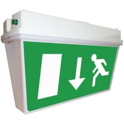 EMERGENCY 8w T5 LED NON-MAINTAINED FIRE EXIT BOX LIGHT IP65 NEW