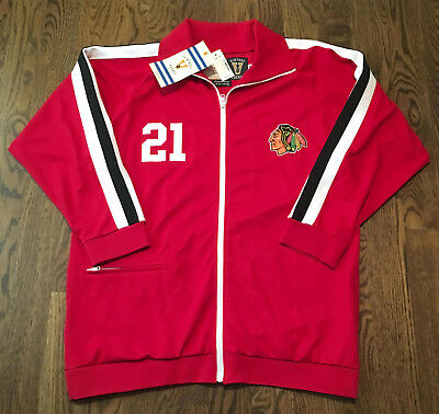 Stan Mikita Jacket Mitchell & Ness Sz 48 Chicago Blackhawks Jersey NHL Hockey