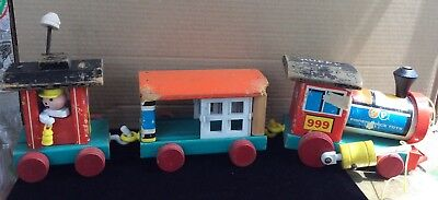Fisher Price huffy puffy train vintage toy