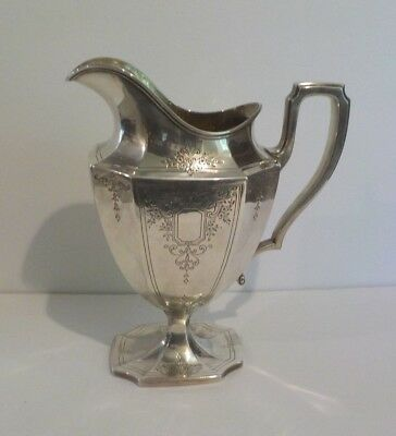 Reed & Barton Sterling Silver Engraved Water Pitcher, c. mid-1900's