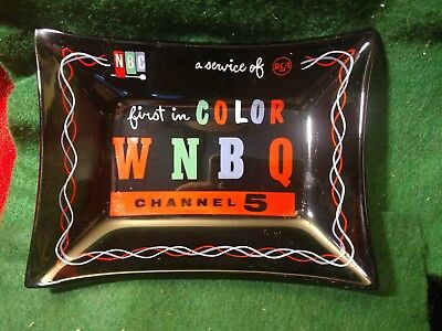 WNBQ First In Color, TV Advertising Ashtray, RCA, NBC, Chicago
