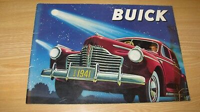 1941 Buick Deluxe Large Orig Dealer Color Sales Brochure Catalog 28 Pgs  Reduced