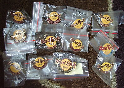 12 Hard Rock Cafe HRC SEALED pins- ALL CITIES CORE LOGO PINS CAYMAN ISLANDS, +++