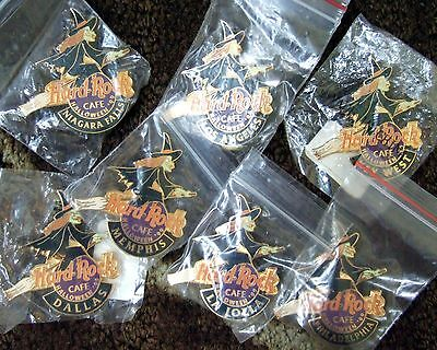 7 Hard Rock Cafe HRC SEALED pins- ALL WITCHES! WITCH LOT -Dallas, La Jolla, L.A.