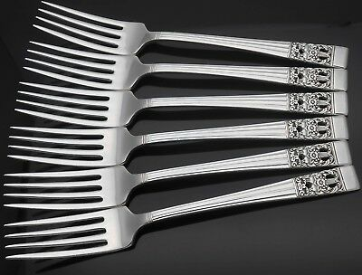 Community Hampton Court / Coronation Pattern Dessert Forks - Silver Plated