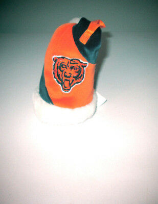 """""""Forever Collectibles"""" CHICAGO BEARS Christmas Plush Ornament Stocking Cap/Hat"""