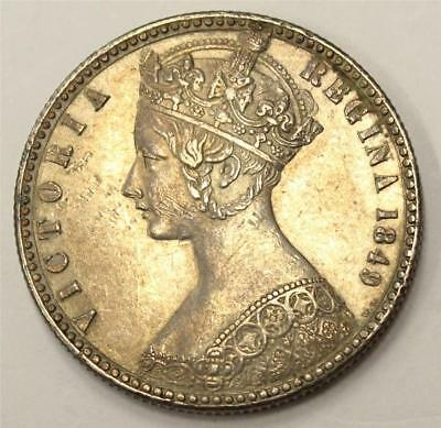 1849 Great Britain Florin S3890 without D.G. and with W.W.  EF45
