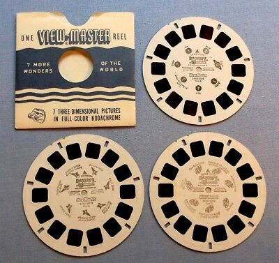Viewmaster Reels - Discovery Channel- Planets, Space Shuttles, Galaxies & Comets