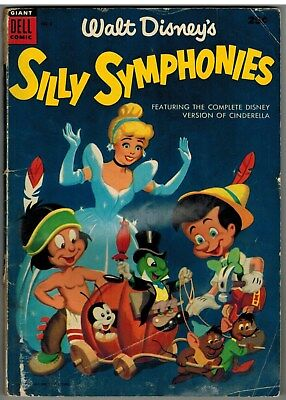 Walt Disney's Silly Symphonies Dell Giant #5 1955 Golden Age Reader!
