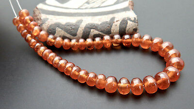 43 BEAUTIFUL AAAA+ SPESSARTINE ORANGE GARNET POLISHED BEADS 37.60cts *GEMMY GLOW