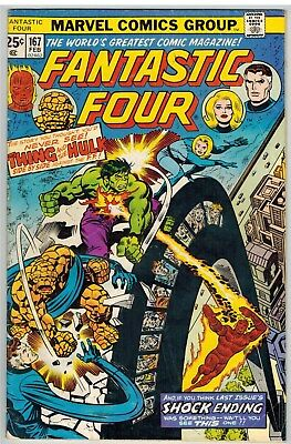 Fantastic Four #167 1976 George Perez Art Marvel Bronze Age!