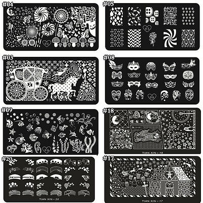 Nail Art Stamp Template DIY Manicure Stamping Plate Stencil Decoration Tool Acc